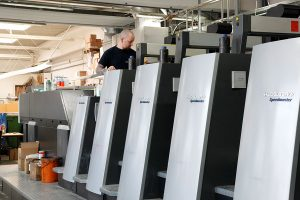 Das Herzstück von BERNSTEINER: Die Heidelberg Offset Druckmaschine