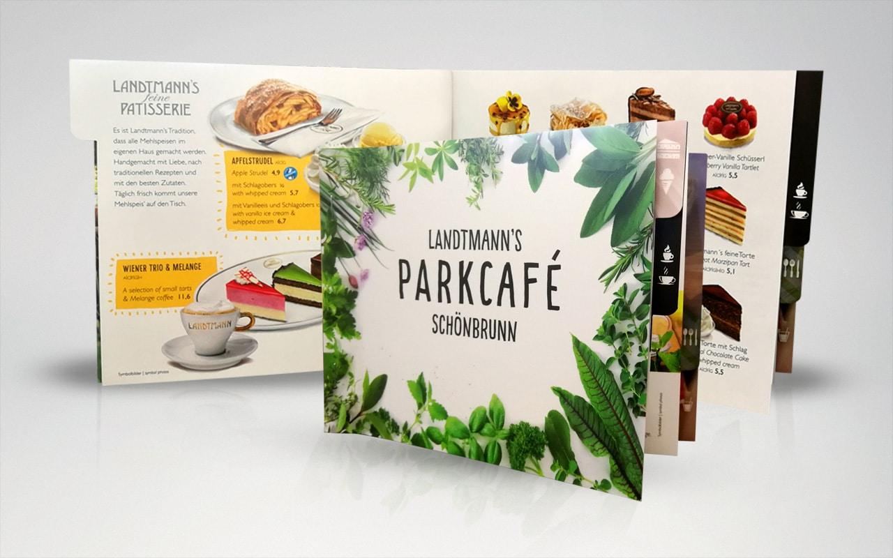 Druck für das Landtmanns Parkcafe