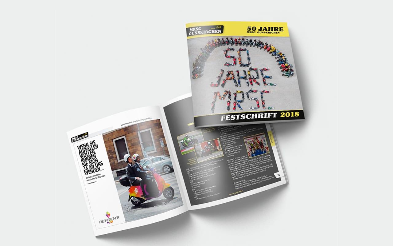 Festschrift für 50-jähriges Jubiläum von MRSC Gunskirchen