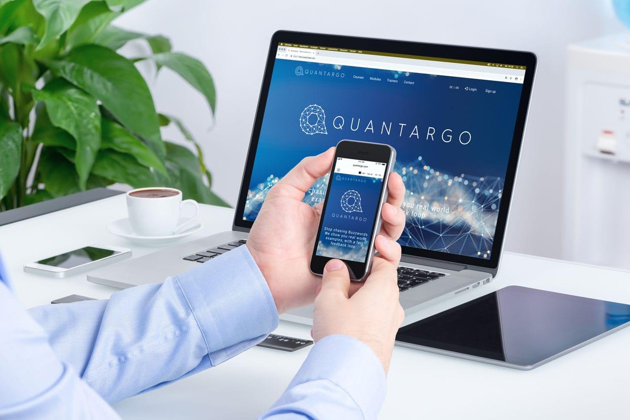Corporate Identity, Website & Drucksorten für Quantargo