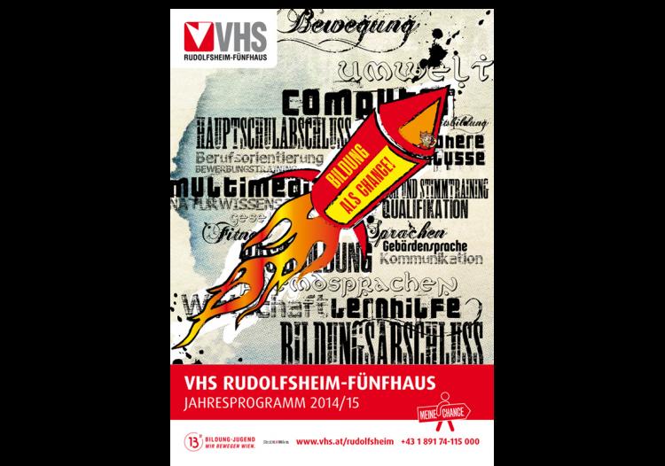 Covergestaltung & Reinzeichnung für die VHS Wien